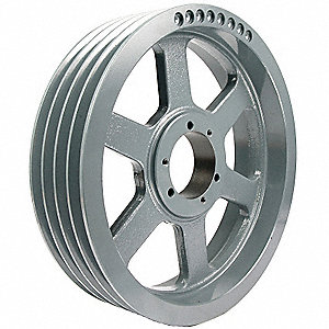 "V-Belt Pulley,Detachabl,4Groove,18.4""OD"