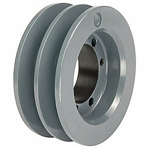 "V-Belt Pulley,Detachable,2Groove,5.95""OD"