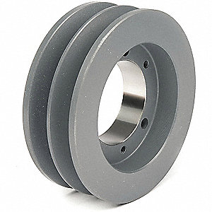 "V-Belt Pulley,Detachable,2Groove,5.5""OD"