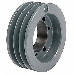 "V-Belt Pulley,Detachable,3Groove,5""OD"
