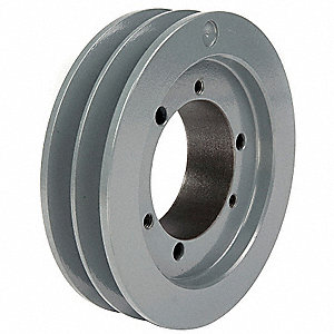 "V-Belt Pulley,Detachable,2Groove,7.1""OD"