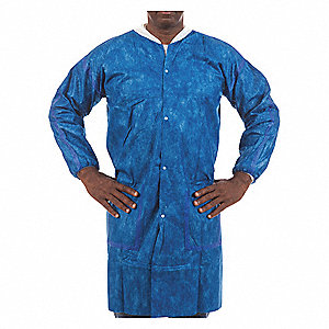 Lab Coat,XL,Blue,38-1/2 In. L,PK50