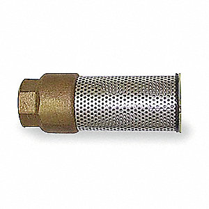Spring Foot Valve,Lead Free Bronze,1-1/4