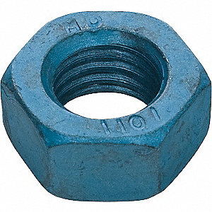 M8-1.25 Hex Nut, Blue Phosphate Finish, Class 10 Alloy Steel, Right Hand, PK50