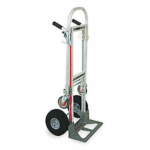 Convertible Hand Truck, Dual Grip, Overall Height 51""
