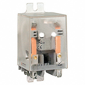 24VAC, 8-Pin Flange Mount Relay; Flange Location: Side, AC Contact Rating: 10A @ 277V