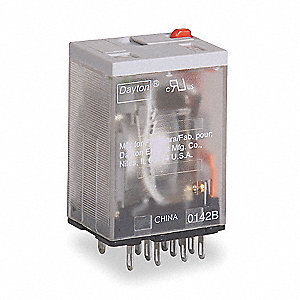 Plug In Relay, 14 Pins, Square Base Type, 3A @ 240VAC/30VDC Contact Rating, 24VAC Coil Volts