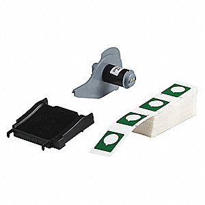 "Raised Panel Label Label Cartridge, Green, 1-1/2""W x 1-13/64"""