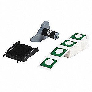 "Raised Panel Label Label Cartridge, Green, 1-51/64""W x 1-51/64"""