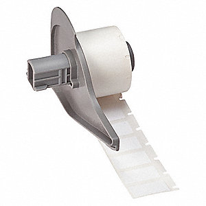 "1/2""H x 1""W White Repositionable Coated Vinyl Cloth Cartridge Label"