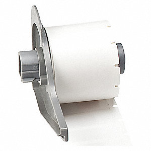 "White on Translucent, 500 Labels per Roll  1-1/2"" H x 1/2"" W, 1 EA"