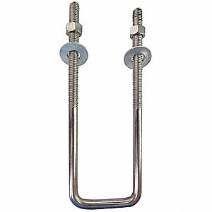 "304 Stainless Steel U-Bolt with Plain Finish, For Pipe Size: 9"", Overall Length: 7"", 1EA"