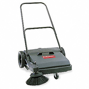 "Push Sweeper,Walk Behind,27"",8 gal."