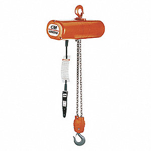 H4 Electric Chain Hoist, 6000 lb. Load Capacity, 230/460V, 20 ft. Lift, 5.5 fpm