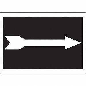 "Directional Sign,7"" x 10"",Plastic"