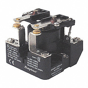 Open Power Relay, 6 Pins, 120VAC Coil Volts, 40A @ 300VAC/28VDC Contact Amp Rating (Resistive)