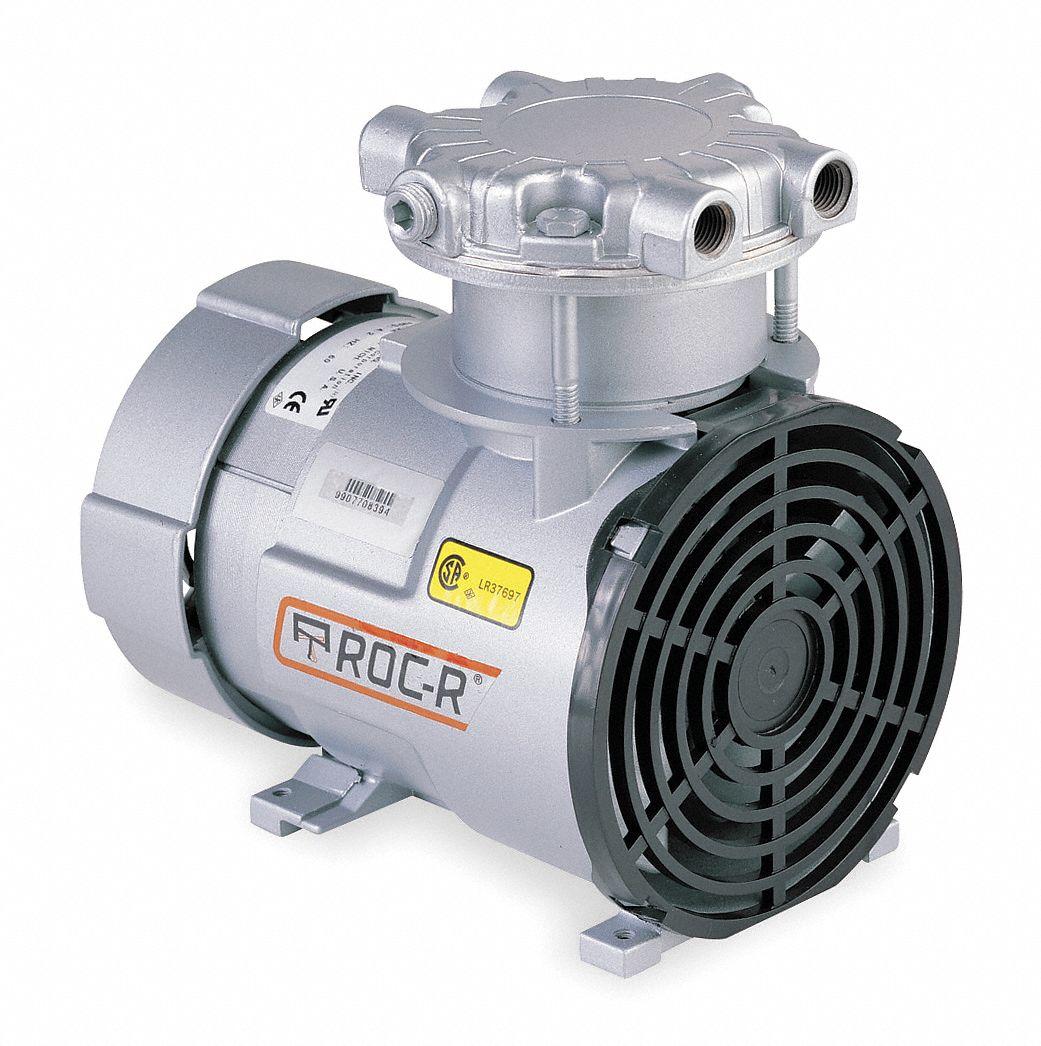 Gast 1 8 Hp Piston Air Compressor Vacuum Pump 115vac 100 Max Pumps Wiring Diagram Psi Cont Int 5z669 Roa P251 Aa Grainger