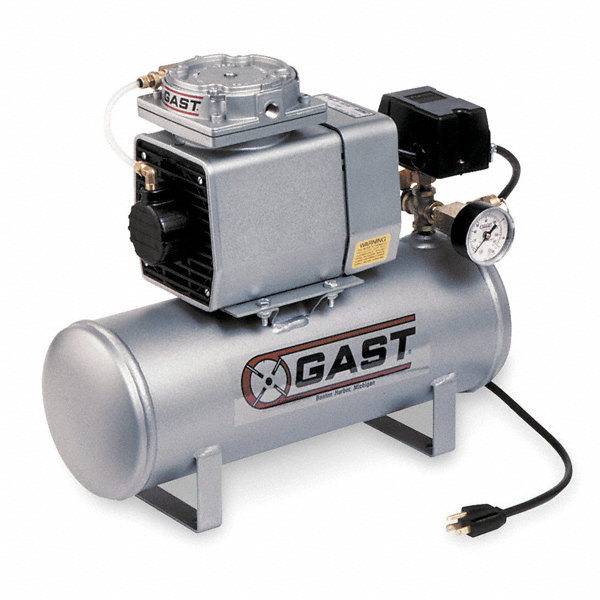 Gast 1 phase electrical hot dog tank mounted for Gast air motor distributors