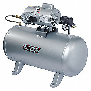 1 Phase - Electrical Hot Dog Tank Mounted 0.75HP - Air Compressor Stationary Air Compressor, 2.0 gal