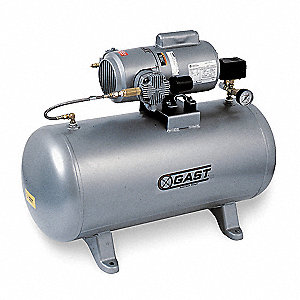 1 Phase Horizontal Tank Mounted 3/4HP Electric Air Compressor, 20 gal., 100 psi