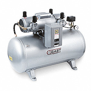 1 Phase Horizontal Tank Mounted 1-1/2HP Electric Air Compressor, 30 gal., 100 psi