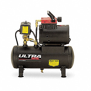 0.50 HP, 115VAC, 2 gal. Portable Electric Oil-Free Air Compressor, 125 psi