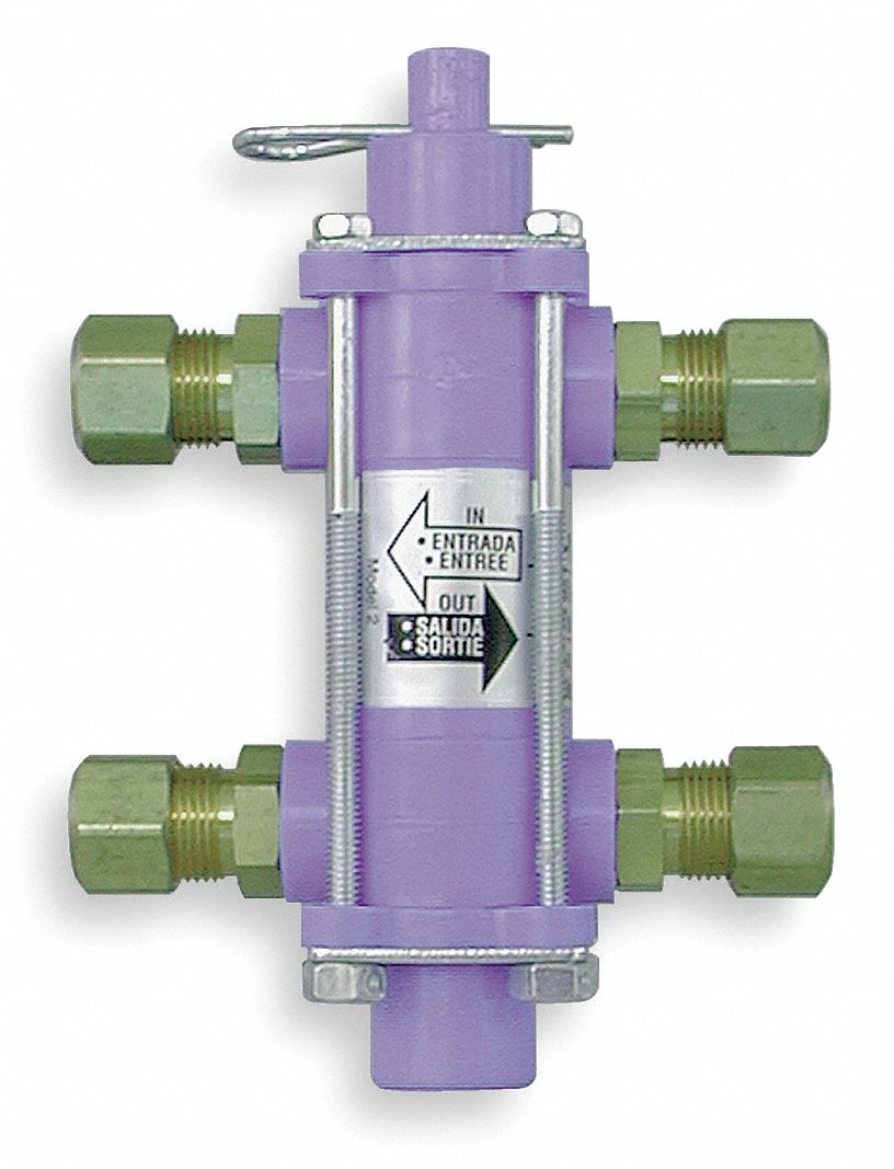 Air/Liquid Bypass Valve,  Metal and Plastic,  3.25 in Width (In.),  4.625 in Height (In.)