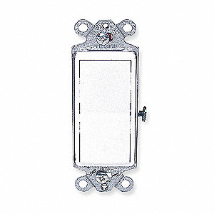 Wall Switch, Switch Type: 1-Pole, Switch Function: Maintained, Style: Rocker