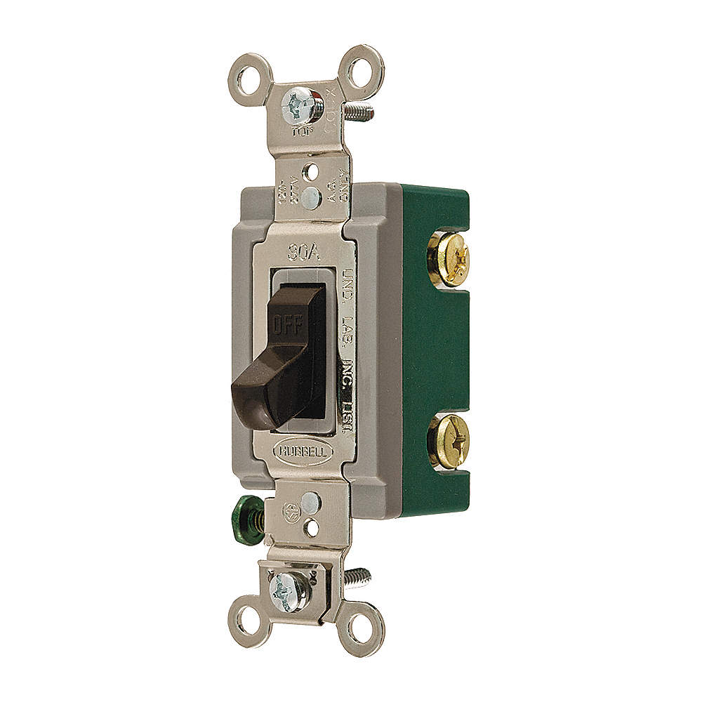 HUBBELL WIRING DEVICE-KELLEMS Wall Switch, Switch Type: 2-Pole ...