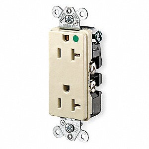 RECEPTACLE,STYLE LINE,20A,IV,HOSPIT