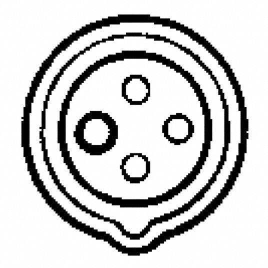 HUBBELL WIRING DEVICE-KELLEMS 60 Amp, 3-Phase Zytel 101 Nylon Watertight  Pin and Sleeve Receptacle, Blue - 3D165 HBL460R9V0 - GraingerGrainger