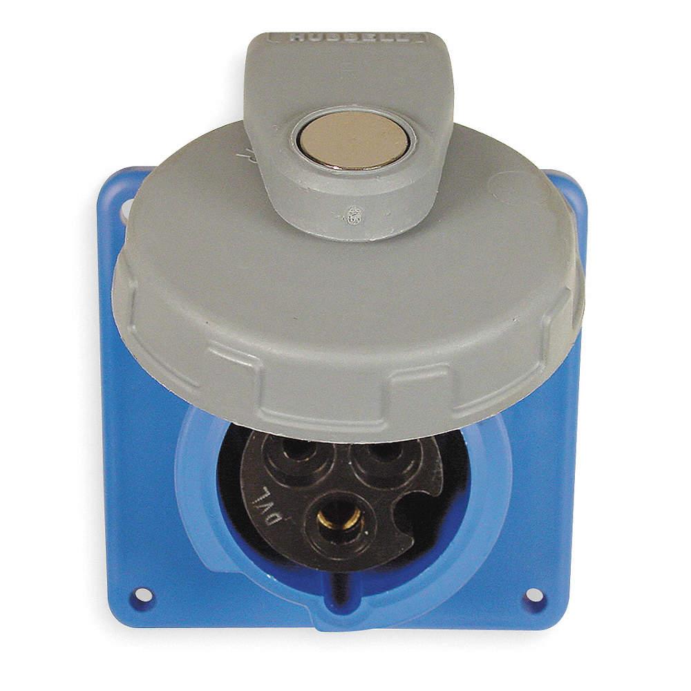 HUBBELL WIRING DEVICE-KELLEMS 20 Amp, 1-Phase Zytel 101 Nylon ...