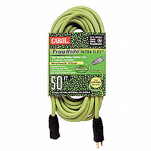 50 ft. Indoor/Outdoor 125V Extension Cord, 15 Max. Amps, Green