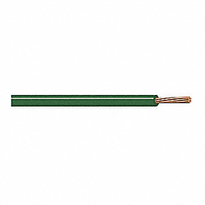 Hookup Wire,20 AWG,Green,100 ft.