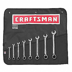 SAE Combination Reversible Reversible Wrench Set, 8 Number of Pieces