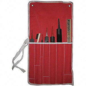 "10"", 12"" and 14"" American Pattern Welders File Set with Black Oxide Finish&#x3b; Number of Pieces: 7"