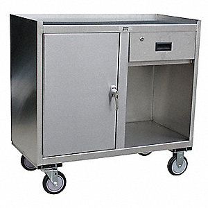 cabinet depth jamco mobile cabinet workbench stainless steel 21 quot depth 12792