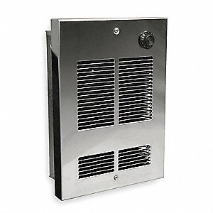 Electric Wall Heater, Shallow Recessed or Surface, 120VAC, Watts 1000
