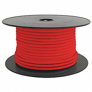 10 AWG Stranded PVC Automotive Primary Wire, 50V, Red, 100 ft.