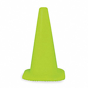 Traffic Cone,18 In. H,Lime