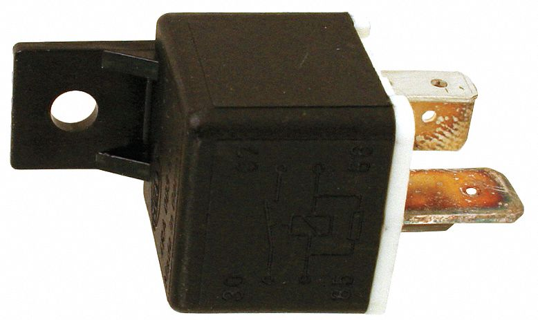 GRAINGER APPROVED Power Relay 4 Pins Contact Amp Rating Resistive