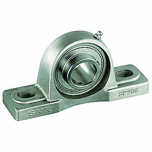 "Pillow Block Bearing, Number of Bolts: 2, Ball Bearing Type, 3/4"" Bore Dia."