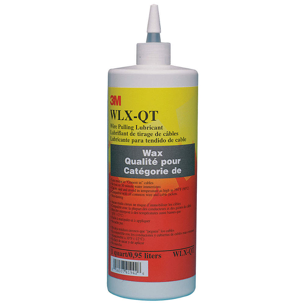 3M Cable and Wire Pulling Lubricant, 1 qt. Squeeze Bottle, Water ...