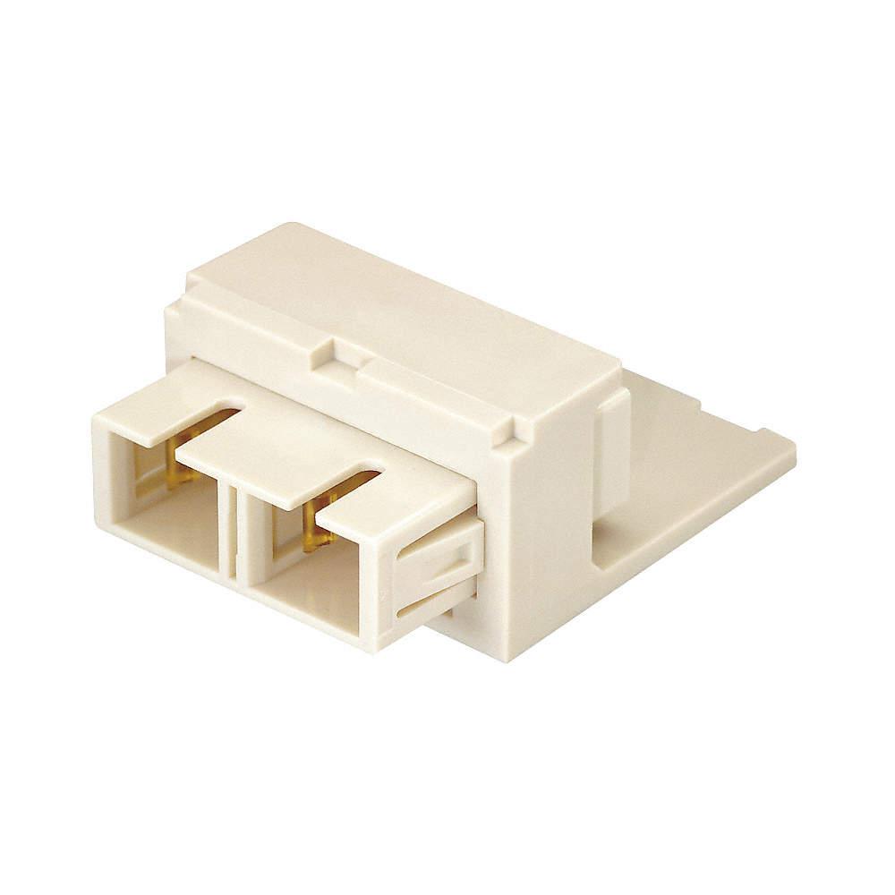 Modular Jack, Off White, Plastic, Series: Mini Com, Cable Type: Category 5e