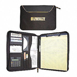 "10"" x 13"" Ballistic Polyester Writing Pad Portfolio with Metal Clip, Black"