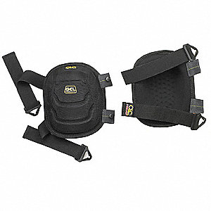 Non-marring 2-Strap Knee Pads, Black