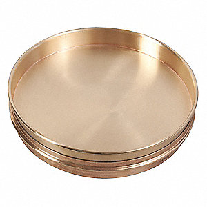 Sieve Bottom Pan,200mm x 25mm,Brass