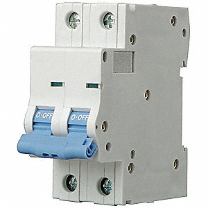 IEC Supplementary Protector, 50 Amps, Number of Poles:  2, 480VAC AC Voltage Rating