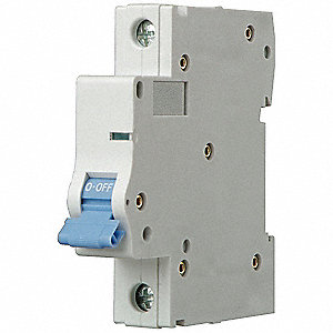 IEC Supplementary Protector, 63 Amps, Number of Poles:  1, 277VAC AC Voltage Rating
