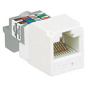 Jack,Mini Com,Cat 6,White